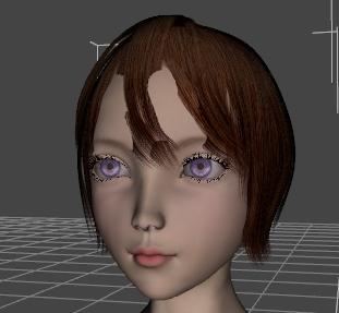 DAZ女性フィギュアの頭部