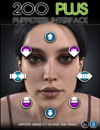 200 Plus Puppeteer Interface for Genesis 8 and 8.1